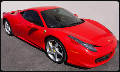 F458 Italia car rental Milan