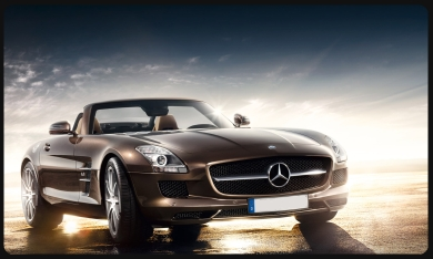 SLS Roadster for rent Milan